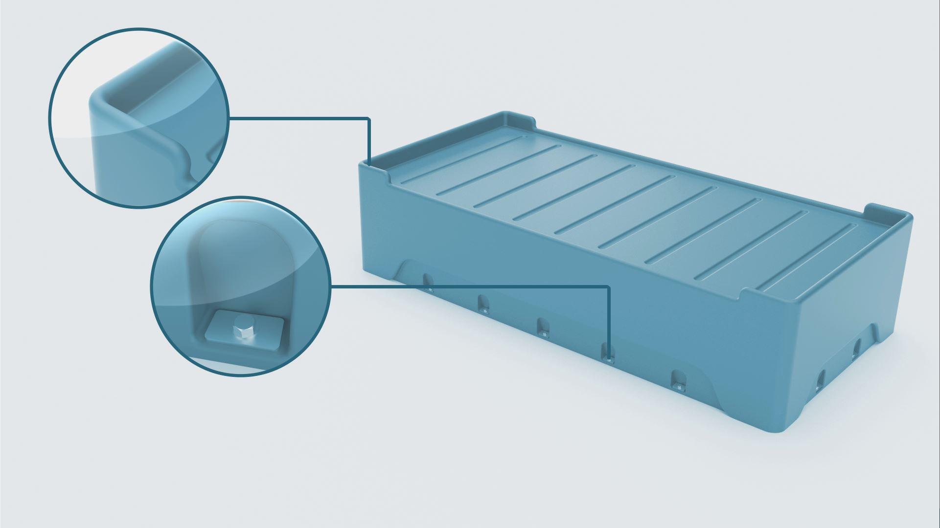 3D Rendering of Cranium Vacuum Modled bed base